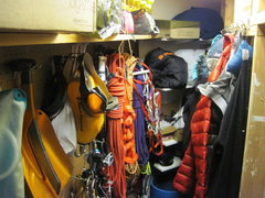 Rock Climbing Photo: Gear Closet