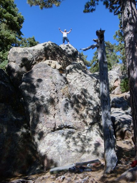 Rock Climbing Photo: Joseph Stover atop Matters Not.