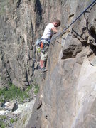 Rock Climbing Photo: Traverse into 1st Ear.
