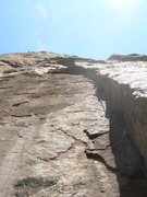 Rock Climbing Photo: Excellent crack climbing up into the wider 1st Ear...