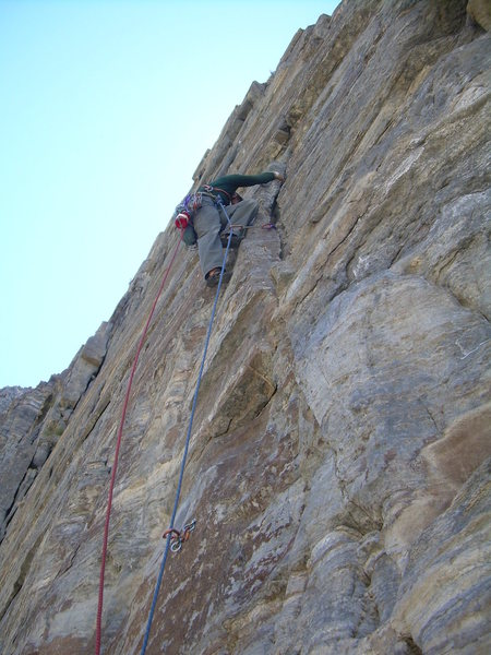 Rock Climbing Photo: Beginning the Godsend pitch