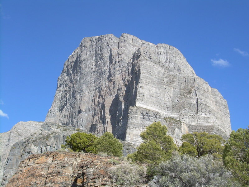 Rock Climbing Photo: North face as seen from the top of Western Hardman