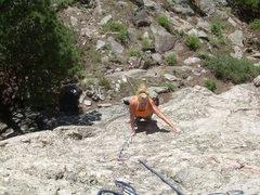 Rock Climbing Photo: Kimberly follows the 10a start.