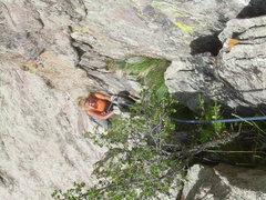 Rock Climbing Photo: 3rd pitch really sucks!