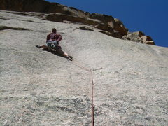 Rock Climbing Photo: Wyatt with the 2nd bolt clipped on the very PG13 3...