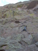 Rock Climbing Photo: Mr. Payne styling the 1st pitch