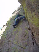 Rock Climbing Photo: The beggining of the 2nd pitch, it's more solid th...