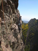 Rock Climbing Photo: Be very careful on the traverse over to Mountain M...