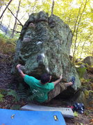 Rock Climbing Photo: Marc on Just a Handful