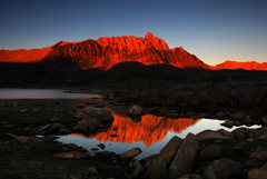 Rock Climbing Photo: Mt. Humphreys in the evening from the outlet of La...