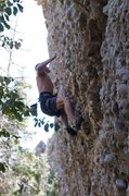 Rock Climbing Photo: Climber at the Minimum