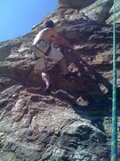 "Rock Climbing Photo: Me climbing the lower section of ""Parole&quot..."