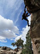 Rock Climbing Photo: Joel on Panning for Gold (5.10b), Holcomb Valley P...