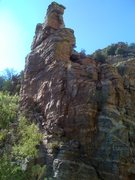 Rock Climbing Photo: The down-stream (south?) face of the tower in ques...