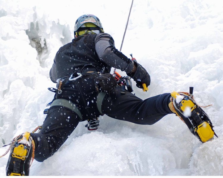 Rock Climbing Photo: fun on tr ouray ice park