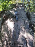 """Rock Climbing Photo: Dylan on the newly refurbished """"Track Cracks&..."""