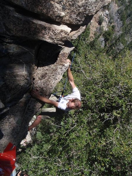 Rock Climbing Photo: Taco on Zatoichi's Revenge