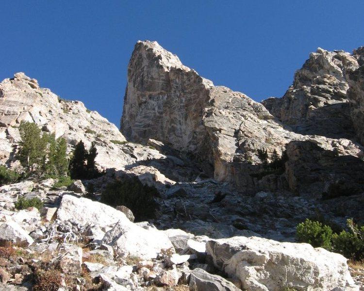 Taminah Arete (5.9), Matternought Peak, Grand Teton National Park, WY.