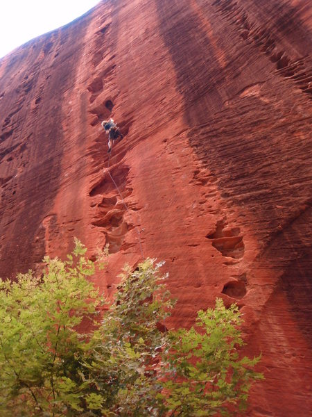 Rock Climbing Photo: A good look at the line, with Namaste visible to t...