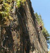 Rock Climbing Photo: Jason Halladay on Nescafe (5.9).  Warm weather cli...