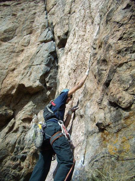 Rock Climbing Photo: Scenic Cruise.  Crux Pitch. Black Canyon.  Oct 2nd...