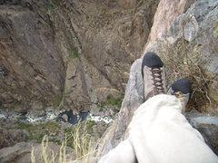 Rock Climbing Photo: Scenic Cruise.  Black Canyon.  Near the top. Oct 2...