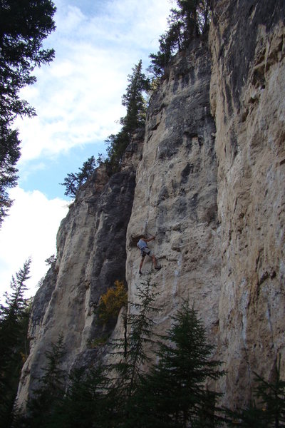 Rock Climbing Photo: Power of the Darkside, 5.11d (and then some!)