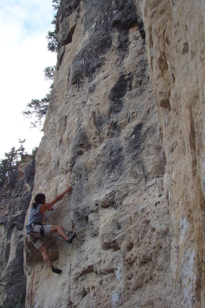 Rock Climbing Photo: Power of the Darkside, 5.11d GET ON THIS THING!