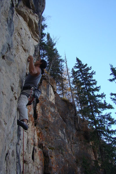 Rock Climbing Photo: Black Rainbow, 5.11b Steep limestone!