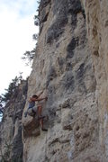 Rock Climbing Photo: Powerful climbing with powerful moves that don't s...