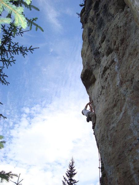 Steep limestone climbing!