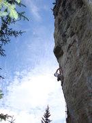 Rock Climbing Photo: Steep limestone climbing!