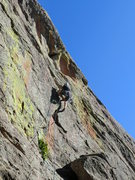 Rock Climbing Photo: Mike Keegan nearing the crux.