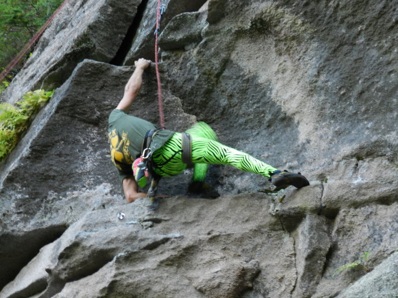 Rock Climbing Photo: getting through the crux