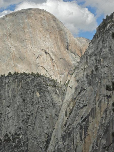 Rock Climbing Photo: Half Dome, Mount Broderick, and Liberty Cap