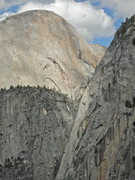 Half Dome, Mount Broderick, and Liberty Cap