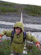 Rock Climbing Photo: Moira happy the bridge didn't collapse.