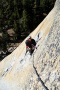 Rock Climbing Photo: Belay at the top of the long first pitch.