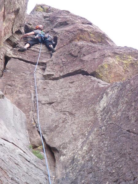 Rock Climbing Photo: jojo ascending the heart route.