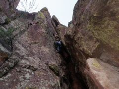 Rock Climbing Photo: The Rigging is on the left arete, right next to Hi...