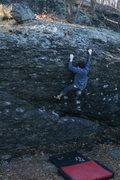 Rock Climbing Photo: Al finishing up Hammond Eggs.