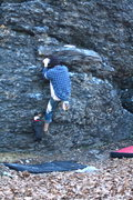 Rock Climbing Photo: Al and Bean man warming up on OJ.