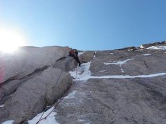 Rock Climbing Photo: Thin ice/firm snow made for stellar conditions on ...