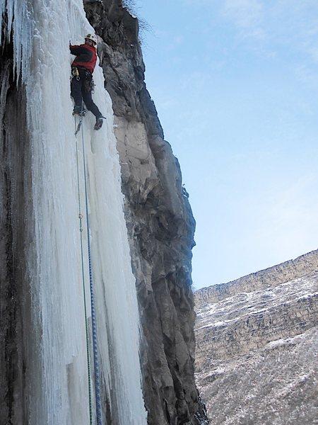 Rock Climbing Photo: Spit Roast - WI4