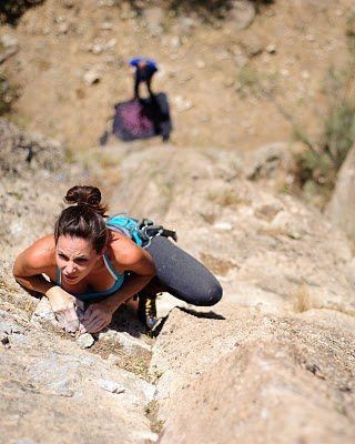Rock Climbing Photo: Rebecca in Hells Canyon