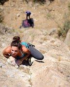 Rock Climbing Photo: Rebecca in Hells Canyon