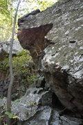 Rock Climbing Photo: left end