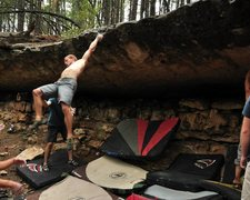 Rock Climbing Photo: Not holding the swing on the Captain Insano dyno. ...