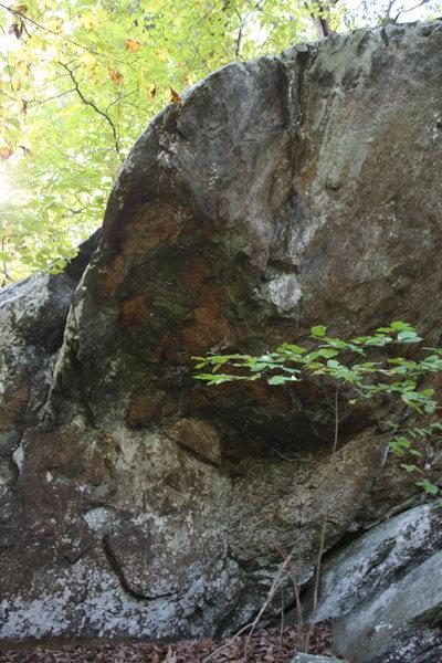 left end of Sanctuary Boulder