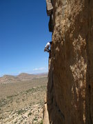 Rock Climbing Photo: climbing above lost horse road